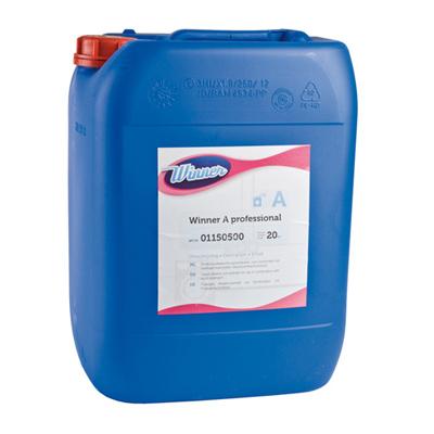 Vloeibare alkalische waskrachtversterker van Winner, zeer geschikt voor vlekverwijdering op wit en gekleurd wasgoed, zelfs op lagere temperaturen (30-40 C)