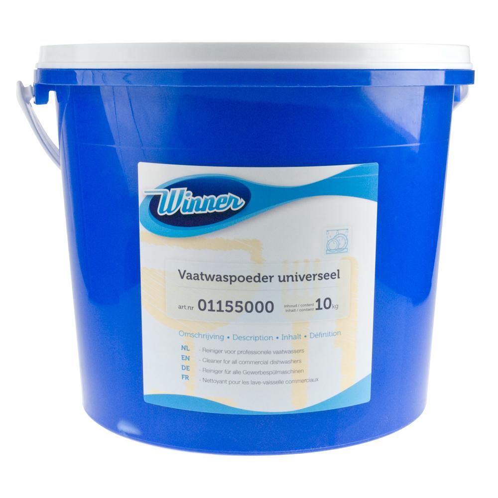 Winner vaatwaspoeder universeel is een vaatwasmiddel voor alle professionele vaatwassers.