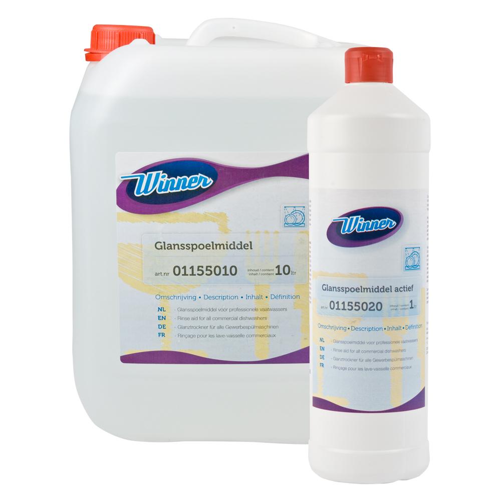 Winner glansspoelmiddel kan worden gebruikt in alle vaatwassers met automatische of handmatige dosering.